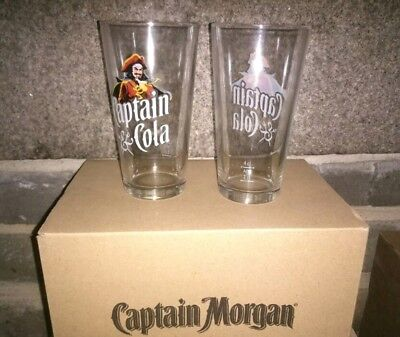 lot de 12 VERRES CAPTAIN Morgan & COLA CAPITAINE COLA RHUM NEUF