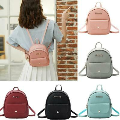 Women Casual Solid Adjustable Strap Zipper Small Backpack WST
