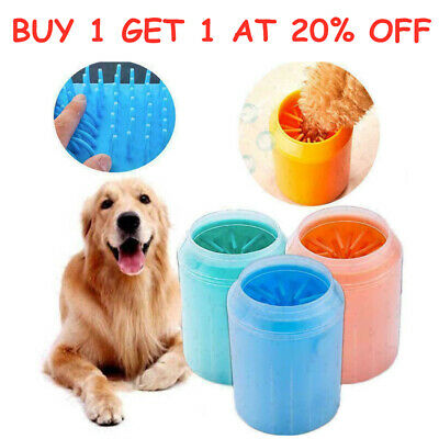 Portable Dog Paw Cleaner Pet Cleaning Brush Cup Dog Foot Cleaner Feet Washers