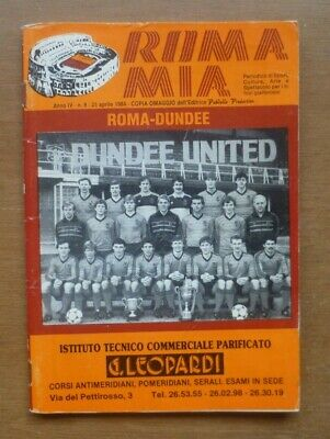 Roma v Dundee United, 25/04/1984 - European Cup Semi-Final Match Programme.