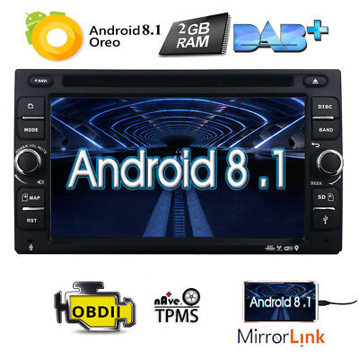 "6.2"" Smart Android 8.1 4G WiFi Double 2DIN Car Radio Stereo DVD Player GPS 4Core"