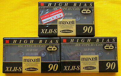 1x MAXELL XL II-S 90 Cassette Tape 1994 + OVP + SEALED +