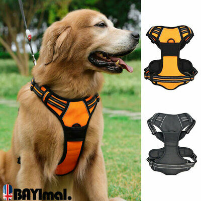 No-pull Dog Harness Outdoor Adventure Vest Adjustable Collar Large Medium Pet UK