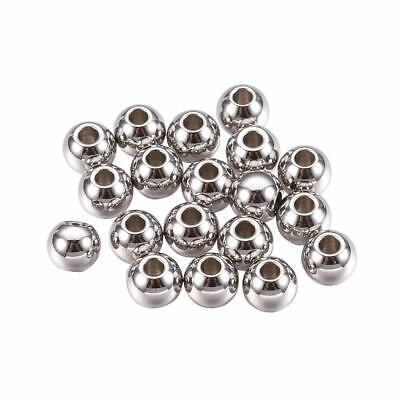304 Stainless Steel Bead Spacer Loose Stopper Beads 6mm Rondelle Jewelry Finding