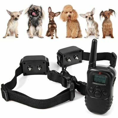 Anti Bark Dog Training Collar Sound Rechargeable Remote Control Stop Barking AU