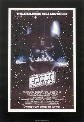STAR WARS REPRO 1980 THE EMPIRE STRIKES BACK A3 FILM MOVIE POSTER b . NOT DVD