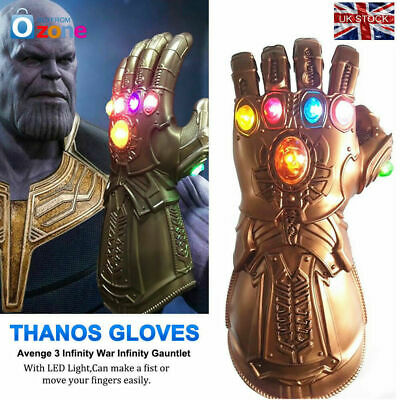 Thanos Infinity Gauntlet Glove Cosplay Avengers Endgame Infinity War Flash LED W