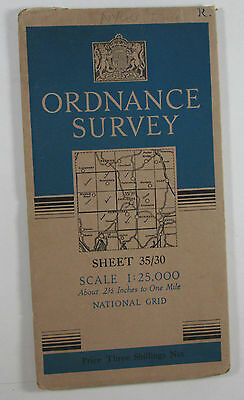 1947 old OS Ordnance Survey 1:25000 First Series Prov map NY 30 Ambleside 35/30