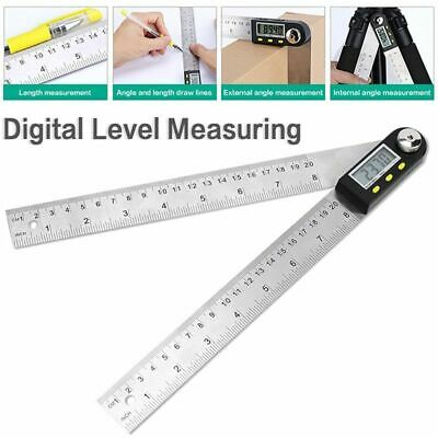 Electronic Digital Protractor Angle Finder Goniometer Measuring Ruler Tool Gauge