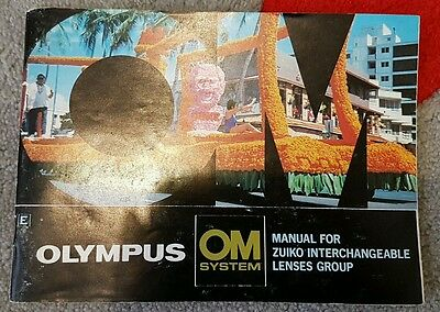Olympus OM System Manual for ZUIKO INTERCHANGEABLE LENSES GROUP FREE POST IN AUS