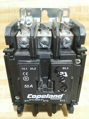 Copeland Definite Purpose Contactor 012-3050-01 600V 3 Pole 50 Amp