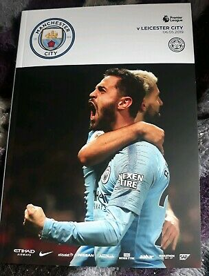 Manchester City programme 2018/19 v Leicester City 06/05/2019 - mint condition