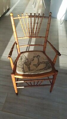 Antique Children's Chairs Child Kid Chairs Spindle Wood