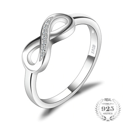 Ring For Women Genuine 925 Sterling Silver Fine Jewelry Gift Love Anniversary