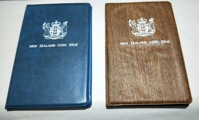 NZ New Zealand 1977 & 1978 mint sets of coins in vinyl wallets