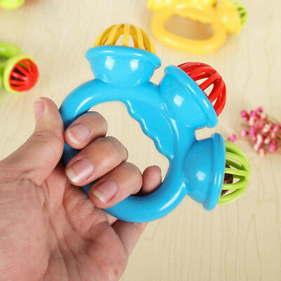 Bell Rattles Toy Funny Color Random Musical Educational Toy Infant Children Baby