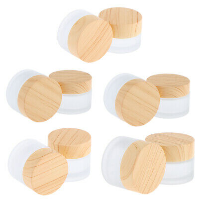 10pcs Empty Cosmetic Sample Packing Jars Cream Containers Pot 5/10/15/30/50g