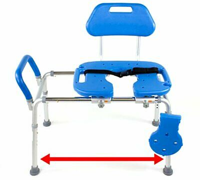 HydroGlyde Premium Heavy Duty Sliding Bathtub Transfer Bench and Shower Chair