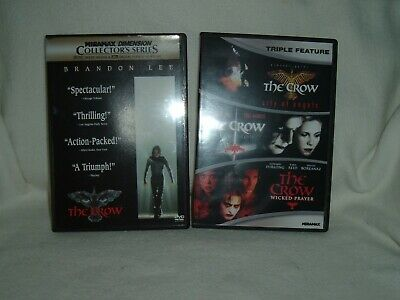 THE CROW 2 disc & triple feature THE CROW city of angels,salvation,wicked prayer