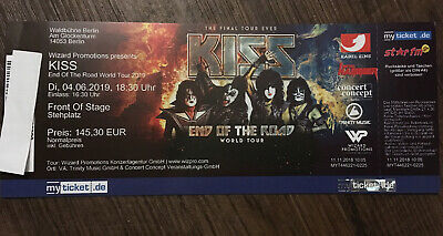 1 Ticket KISS - End of the Road-Tour 04.06.2019 Berlin FRONT OF STAGE