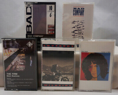 Bad Company, The Firm, Loverboy, Billy Squier Vintage Rock Cassette Tape Lot x 5