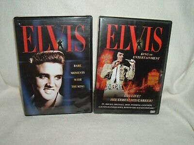 Elvis -  Rare Moments With The King & King Of Entertainment 2 Dvds  --- Look ---