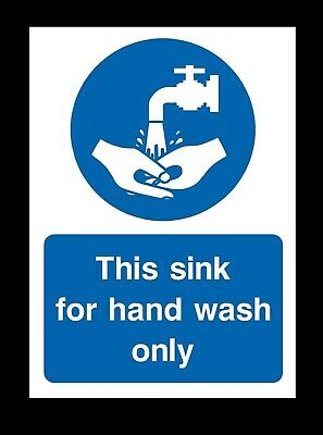 THIS SINK FOR FOOD WASH ONLY SIGN MA483 SAFETY STICKER RIGID INDOOR OUTDOOR