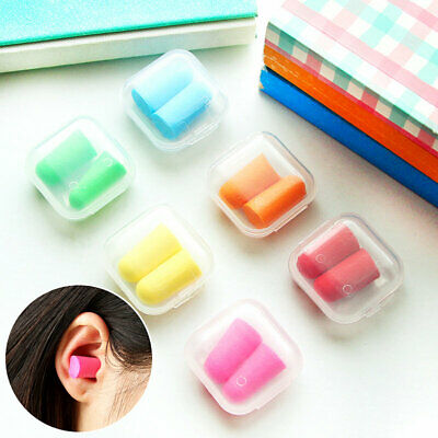 10Pair Soft Foam Ear Plugs Sleep Earplugs Noise Reduction Sleep Travel  +Bag/Box