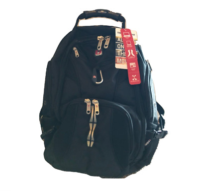New SwissGear 1900 Scansmart TSA Unisex Laptop Backpack BLACK O/S w/ TAGS