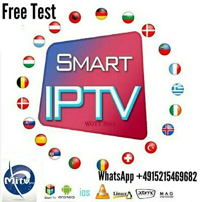 12 Monate Echtes Premium IPTV Smart TV M3U mag Box Andriod smartphone free Test
