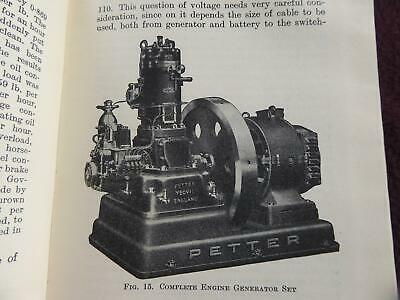 1939 Private Power Plants Lighting Wiring Starters Quality Wartime Tech Book Vgc