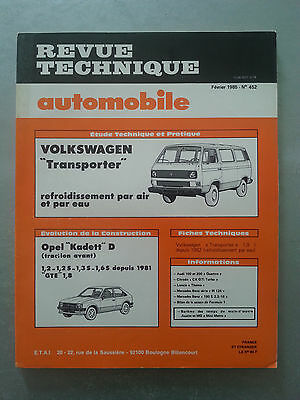 REVUE TECHNIQUE VOLKSWAGEN TRANSPORTER T3 essence