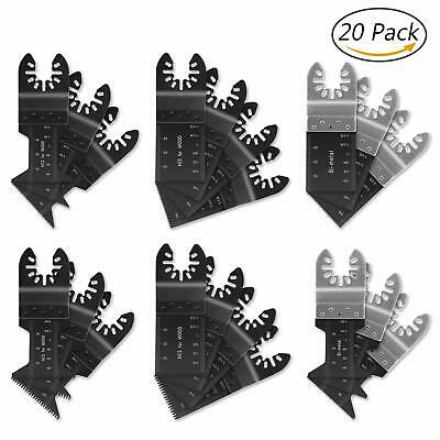 Oscillating Saw Blades,20 Pieces Metal Wood Oscillating Multitool Quick Release