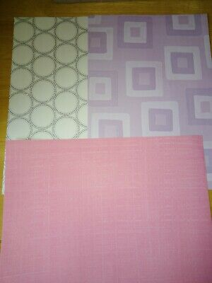 Paper 3 x A4 sheets Pink, Green and Cream with silver circles Card making Craft