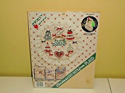 PLAID Apple Bits Wood Wreath Christmas Kit Crafts Pieces Only NEW