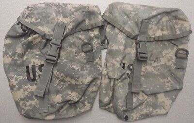 GOOD 2 ea ACU MOLLE II Sustainment Pouch Digital Camo GENUINE US Army Pack Ruck
