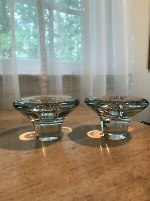 Glass Candle Holders, Set/2