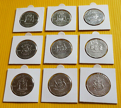 2001 Centenary of Federation 50c Complete State Series Full Set 9 Uncirculated