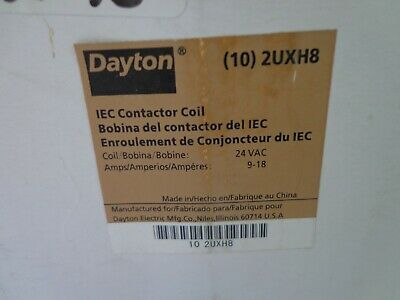Lot of 10 Dayton 2UXH8 Contactor Coil Replacement Coils 24VAC 9-18 Amps