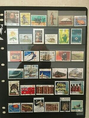 Australian stamps mixture (33) of various denominations all gummed fine used
