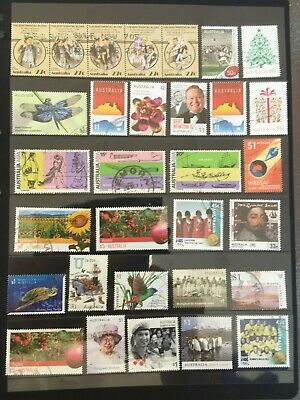 Australian stamps mixture (31) of various denominations all gummed fine used