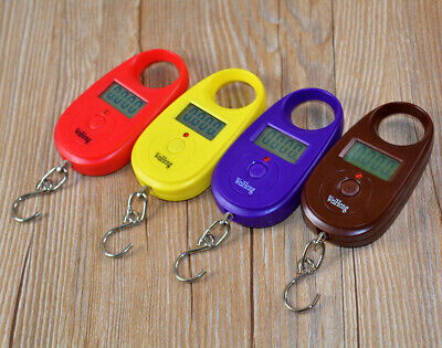 25kg/5g Digital LCD Portable Luggage Fishing Weigh Hanging Scale Balance