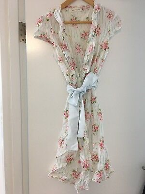 Peter Alexander Floral Wrap Gown Size Small