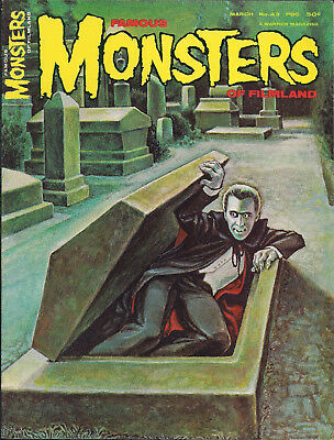 FAMOUS MONSTERS OF FILMLAND #43 Vintage Magazine Mar 67 DRACULA Christopher Lee