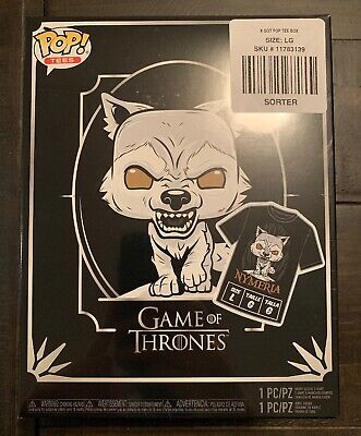 Funko Pop Tees Game Of Thrones Nymeria Shirt Pop Bundle Large