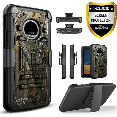 For Motorola Moto X4 Phone Case, Armor Belt Clip Cover+ HD Screen Protector