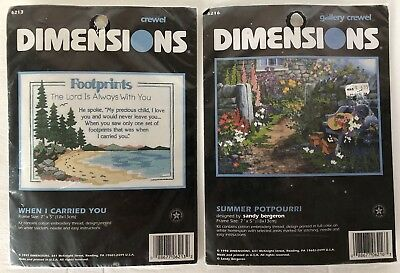 Dimensions Gallery Crewel Footprints When I Carried You 6213 & Summer Potpourri