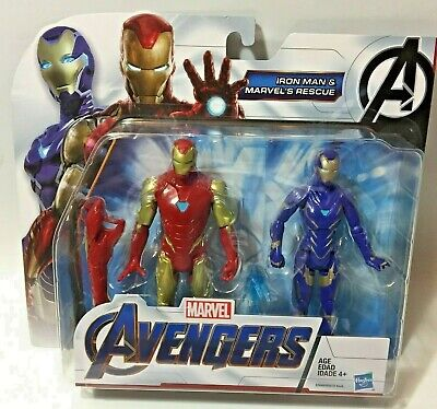 Marvel AVENGERS ENDGAME MCU IRON MAN & RESCUE 6in Action Figure Pack IN STOCK