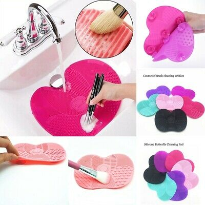 Makeup Brush Cleaner Cleaning Cosmetic Scrubber Board Silicone Mat Pad Tool Gift