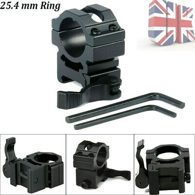 25.4mm Ring Quick Release Scope Mount 20mm Picatinny Rail For Airsoft Scope UK